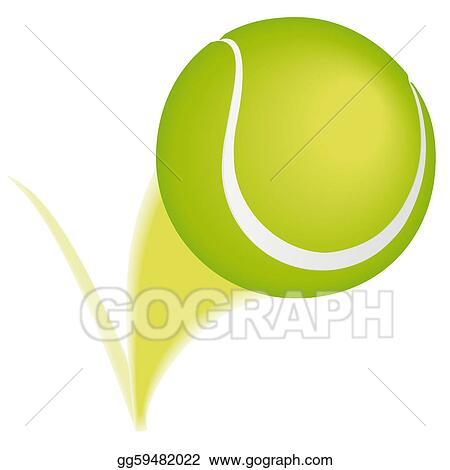 Drawing - Tennis ball bounce. Clipart Drawing gg59482022 - GoGraph