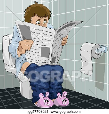 Vector Art The Man In A Toilet Clipart Drawing
