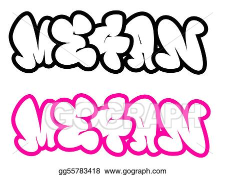 Drawing - The name megan in graffiti style. Clipart ...