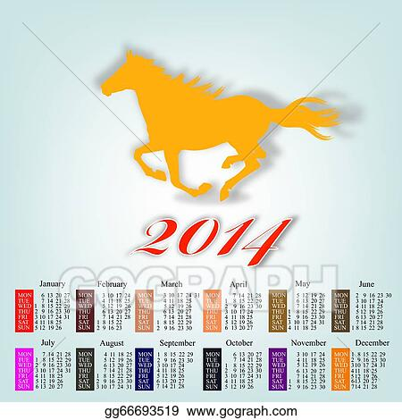 New Year Of 2014 Stock Illustrations  Royalty Free  GoGraph