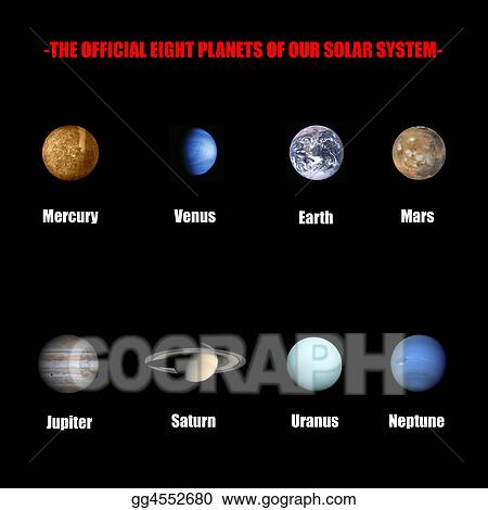 7 planets in our solar system