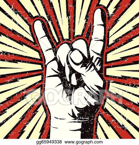 Vector Illustration - The rocker hand sign. EPS Clipart gg65949338 ...