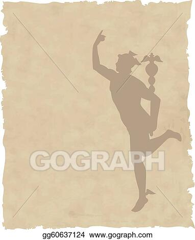 Stock Illustration - The vector Greek God Hermes. Clipart ...