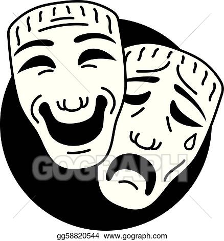 Comedy Clipart Theatre comedy and tragedy
