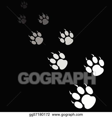 Tiger paw print background - photo#14