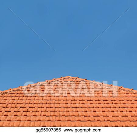 Tiled Rooftop on Blue Sky