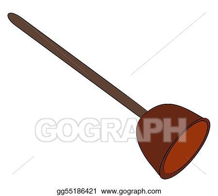 stock illustration toilet bowl plunger clipart drawing gg55186421 gograph. Black Bedroom Furniture Sets. Home Design Ideas