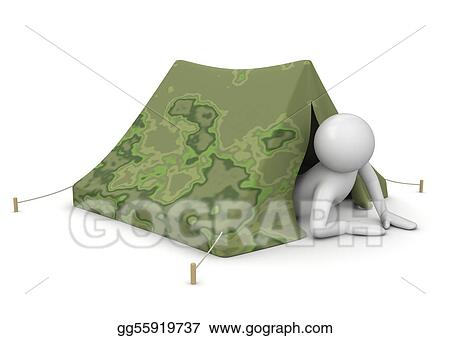 Tourist in tent - Leisure collection