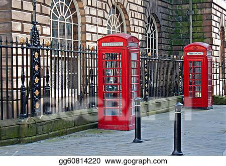 Traditional British telephone boxs