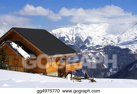 Traditional winter chalet