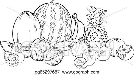 pineapple a sweet tropical fruit coloring page kids play color
