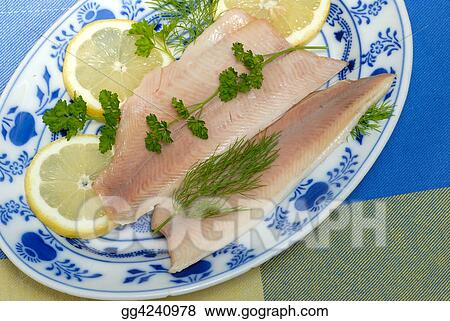 Trout fillet dish
