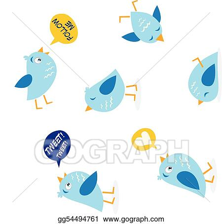 Twitter message birds set