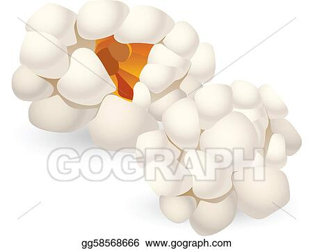 Piece of Popcorn Clip Art http://www.gograph.com/illustration/two-single-pieces-of-isolated-popcorn-gg58568666.html