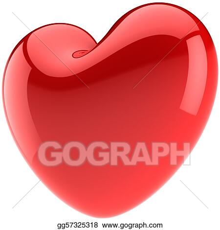Valentine heart shape in Love