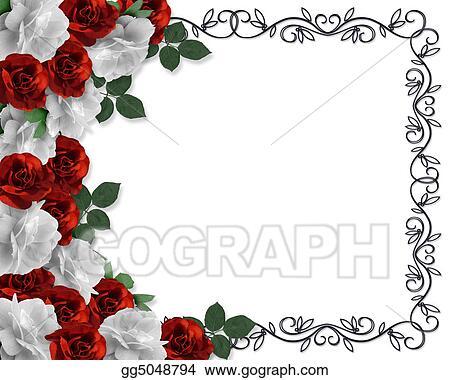 Stock Illustration - Valentine or wedding border roses . Clipart ...