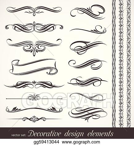 Vector decorative design elements & page decor