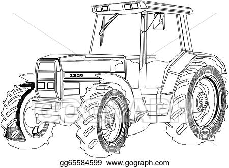 How to draw a tractor trailer