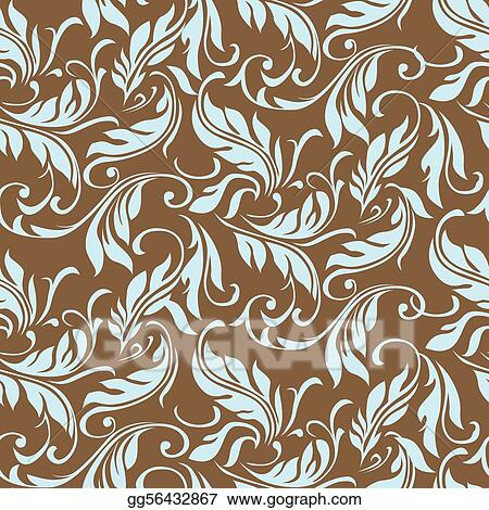 Vector Floral Swirl Leaf Pattern