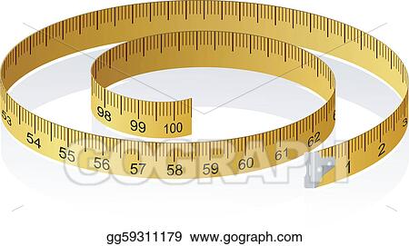 Vector illustration of a measuring tape with reflection