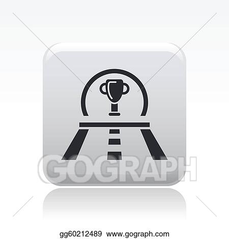 Vector illustration of single isolated race premium icon