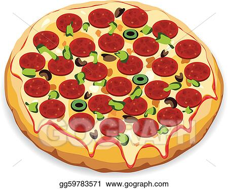 ... - Vector illustration of italian pizza. Vector Clipart gg59783571