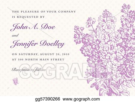 Vector Lilac Bouquet and Purple Background