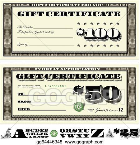 Clip art gift certificate search results calendar 2015 for Dollar certificate template