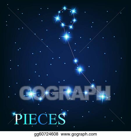 clip art vector of the pieces zodiac sign of the