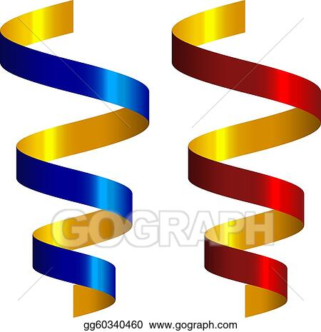 Vector Art - Vector party streamers. Clipart Drawing gg60340460 ...
