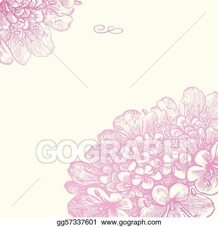 Vector Pink Floral Square Frame