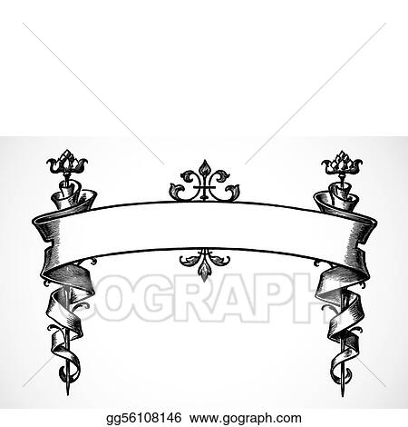 Vector Illustration - Vector scroll banner. EPS Clipart gg56108146 ...