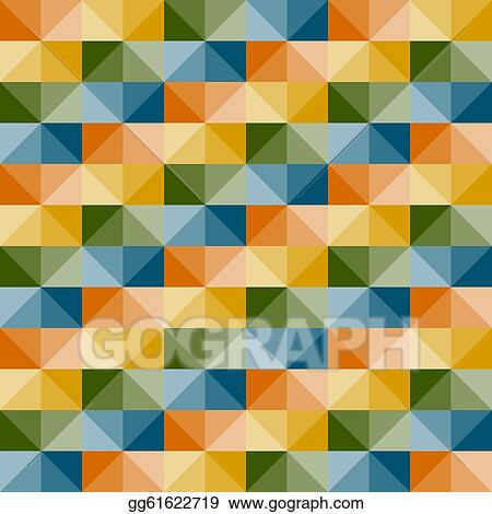 Vector art vector seamless geometric pattern with 3d for Object pool design pattern