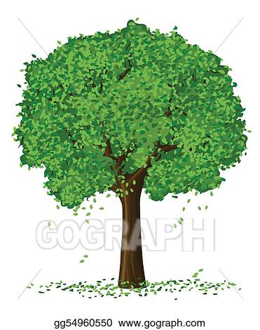 vector silhouette of summer season tree