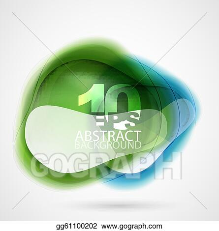 Vector translucent shapes abstract background