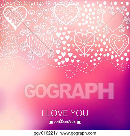 Vector Ilration Valentine S Day Background Blurred Template Holiday Invitation Card In A Tribal Style Pink Stylish Backdrop Wedding