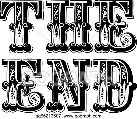 Vector Vintage The End Lettering