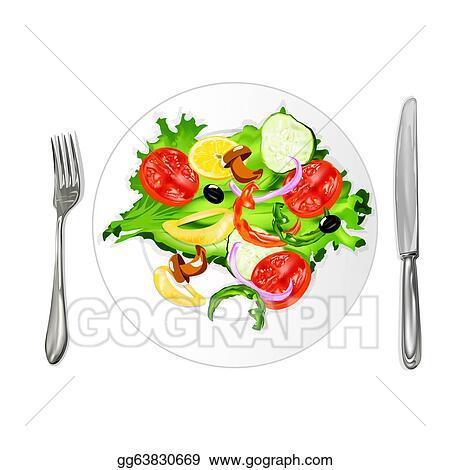 Stock Illustration - Vegetarian food. Clipart ...