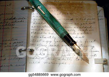 Vintage Fountain Pen And Old Writing