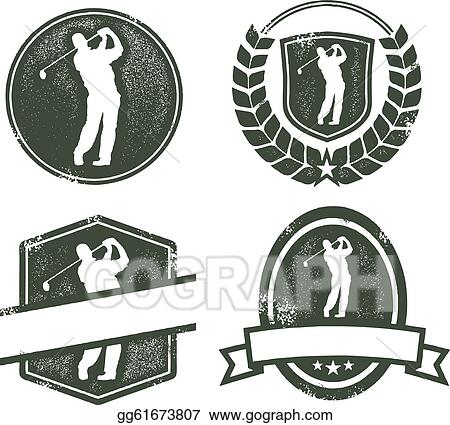 Old Fashioned Golfer Clipart