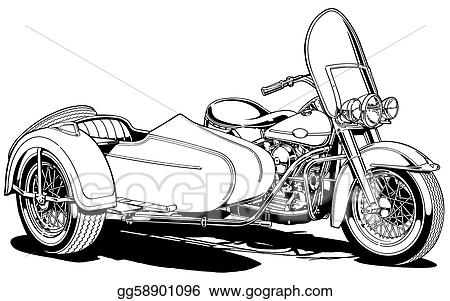 Vintage Motorcycle with Side Car
