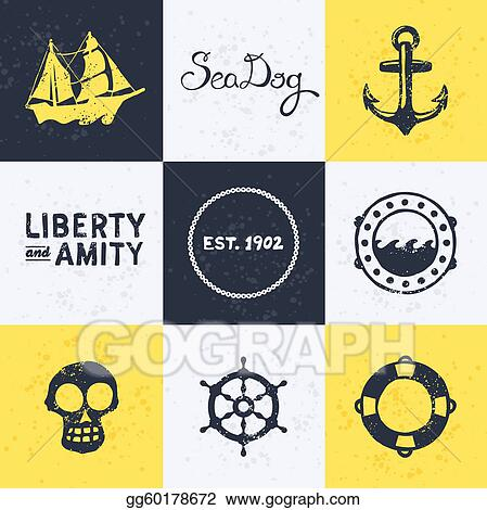 Vintage nautical symbols