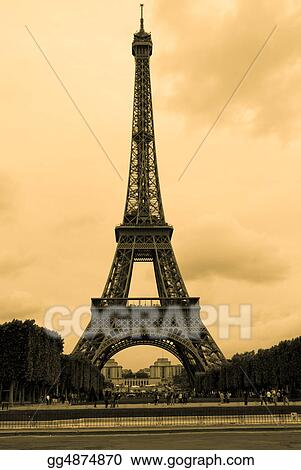 Vintage photo of Eiffel tower