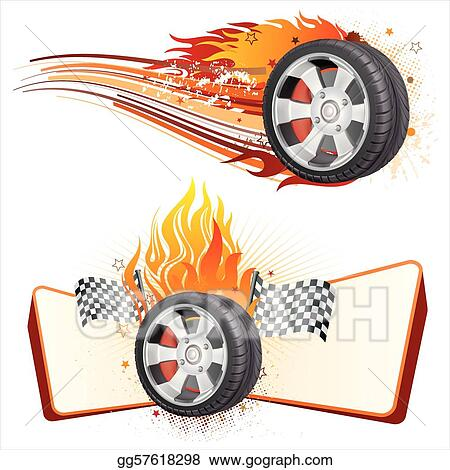 wheel and flame
