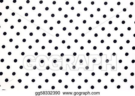 White fabric with black dots can use as background
