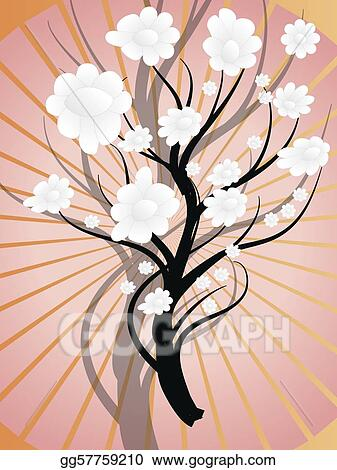 white flowering bush on pink background