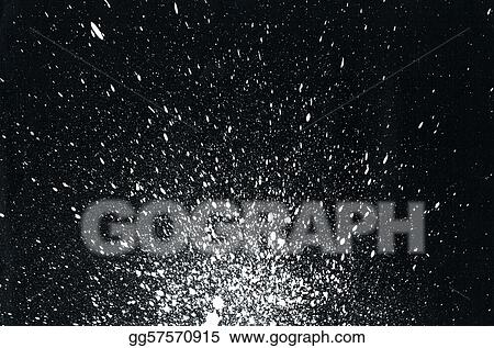 white paint splatter on black background