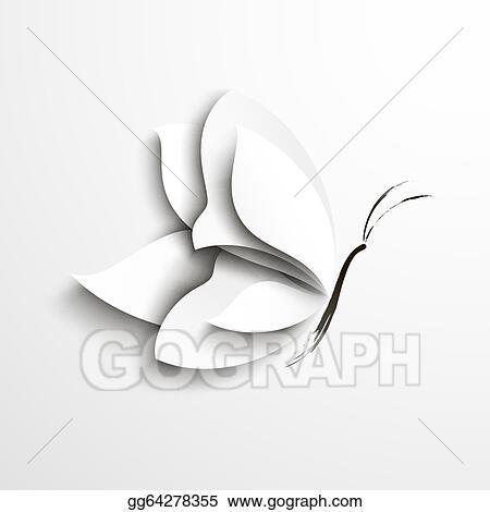 Stock illustration white paper butterfly stock art for White paper butterflies