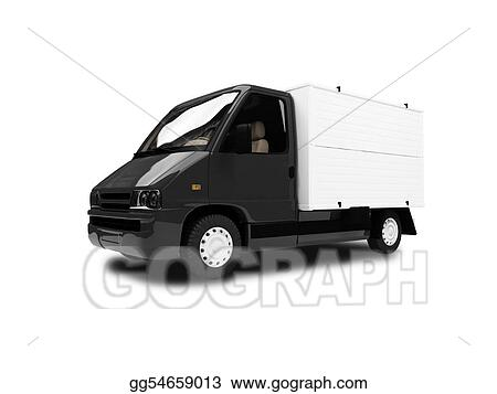 Clip Art - White Van isolated front view. Stock ...