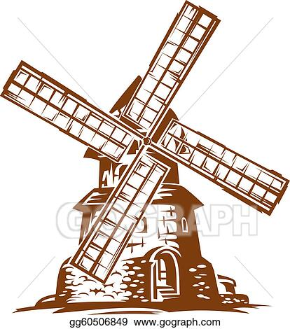 Clipart - Wind mill . Stock Illustration gg60506849
